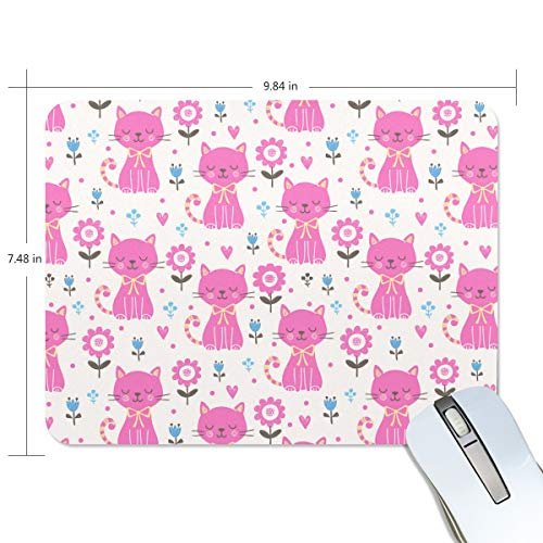 Cat Perch Nail Game Mouse Pad Customization, Mouse Pad Custom Rectangular Non-Slip Rubber Mouse Pad, Suitable for Computer Notebook ()