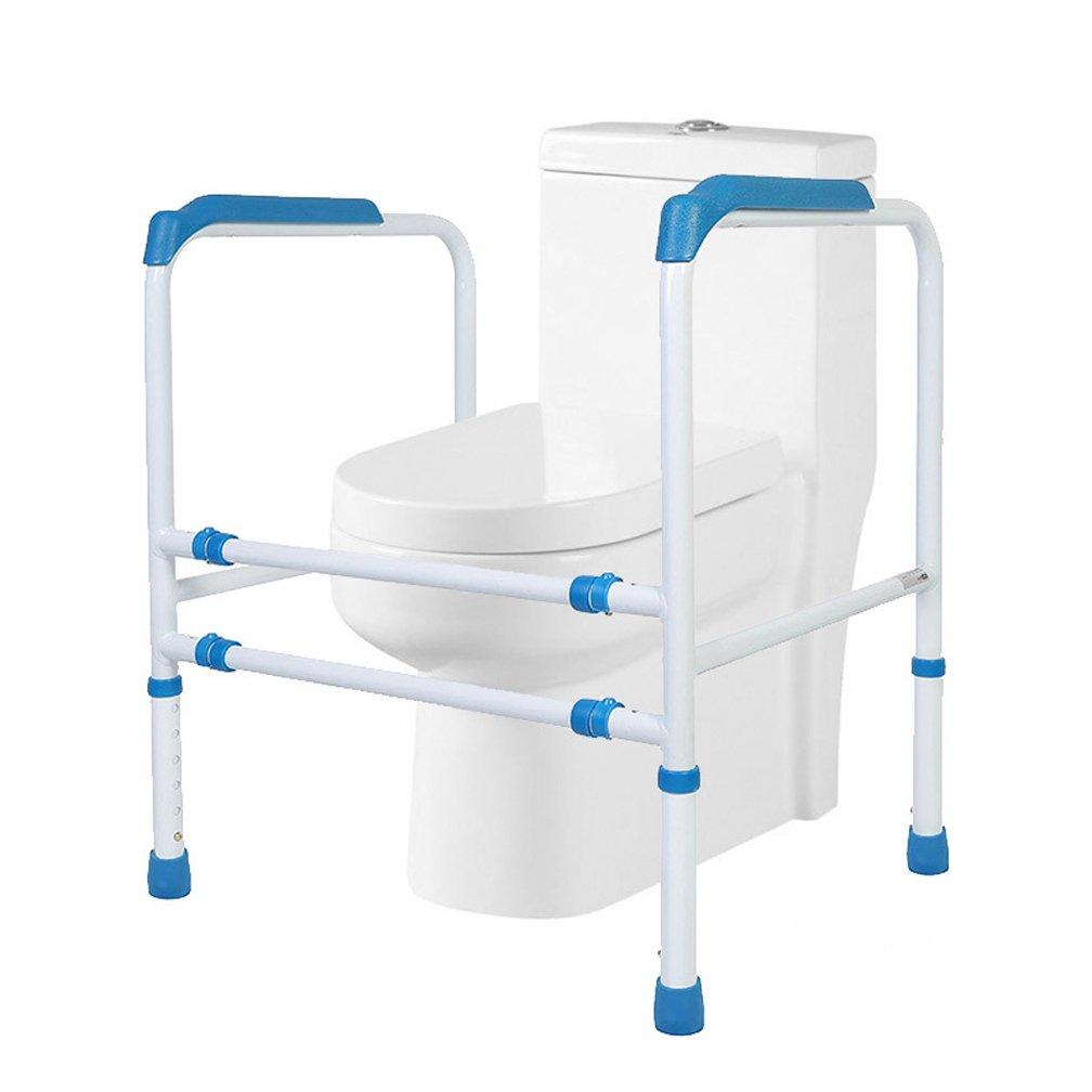ヘルスケアトイレサポートフレーム高さ可変コモードフレーム炭素鋼パイプ安全バリアフリー手すりスタンド B07DPRWBGH