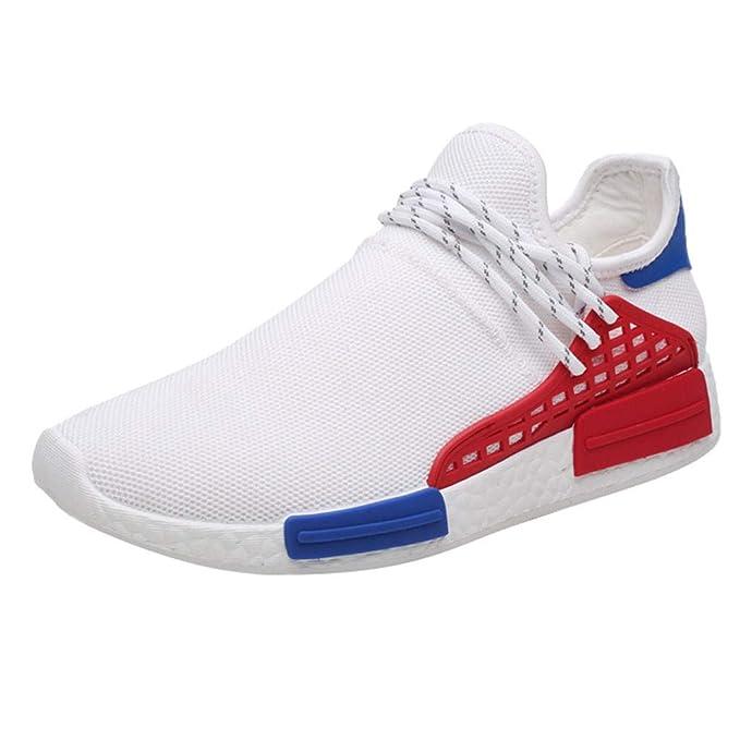 Bestow Zapatillas de Deporte Bajas Transpirables y cómodas de los Hombres de la Moda Ocasionales Zapatos