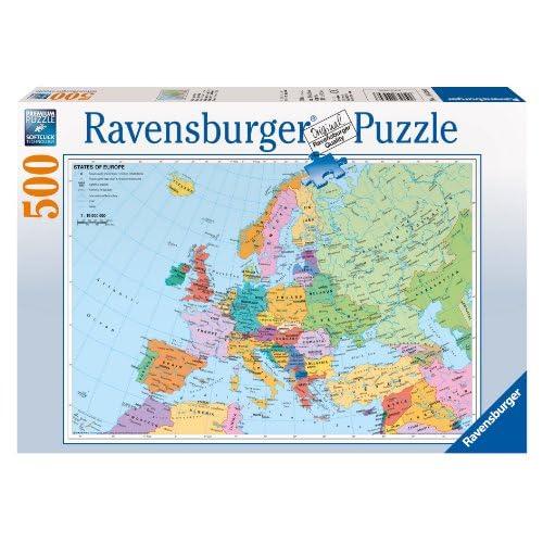 Ravensburger Carte Politique du Monde Puzzle de 500 Pièces