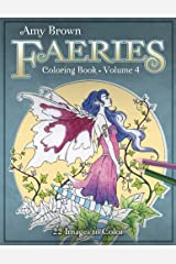 Amy Brown Faeries Coloring Book 4 Paperback
