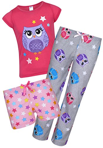 Sleep & Co Girl's 3-Piece Pajamas Set, Owl, Size 8' by Sleep & Co