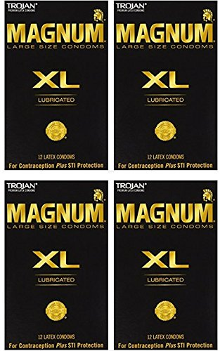 Trojan Magnum Xl Lubricated Condoms, 12 Count (Pack of 4) by Trojan Condoms
