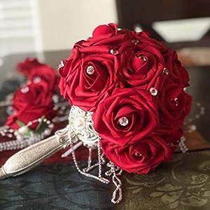 10 Heads 8Cm Pretty Charming Artificial Flowers Pe Foam Rose Flowers Bride Bouquet Home Wedding Decor Scrapbooking DIY Supplies 13