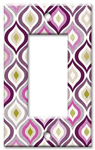 Purple Solid Faceplate Cover - Art Plates 1 Gang Decora - GFCI Wall Plate - Pink and Purple Designs