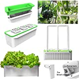 If you want to have a good smart hydroponic tabletop garden, here we are  You can garden all year-round with this smart soil free hydroponic unit It is easy, safe, clean and Convenient  It is season free, suitable for home office and Kitchen  Grow fr...