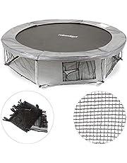 Relaxdays Unisex jeugd, zwart frame net voor tuintrampoline, met 3 opbergvakken, bodemveiligheidsnet voor trampoline Ø 183 cm, 182 cm