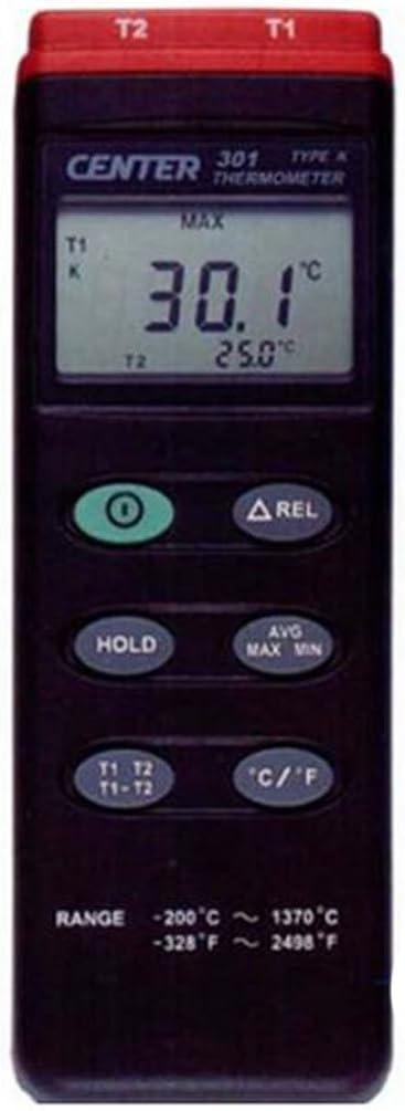 SSEYL CENTER301 K Type//Dual Input//PC Interface Digital Thermometer CENTER-301