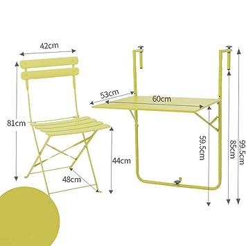 SED Multifunción Pequeña Mesa Hogar Balcón y sillas Plegable ...