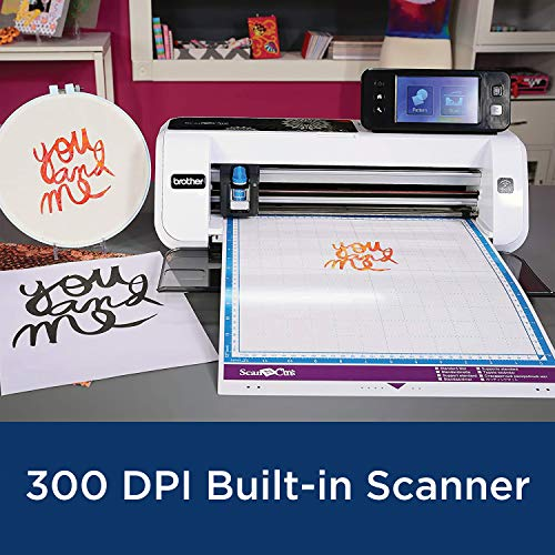 Brother CM350E ScanNCut 2 Cutting Machine with Scanner, Make DIY Vinyl Wall Décor, Custom Stickers and Stencil Sheets with 631 Included Patterns, ScanNCut Online Activation Card