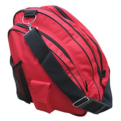 A&R Sports Skate Deluxe Bag, Red (Skates Ice Red)