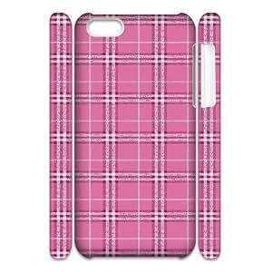 3D {Tartan Series} IPhone 5C Cases all Pink Tartan, Case Binocara - White