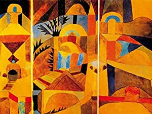 Paul Klee Poster Adhesive Photo Wallpaper - The Temple Garden, 1920 (95 x 71 inches)