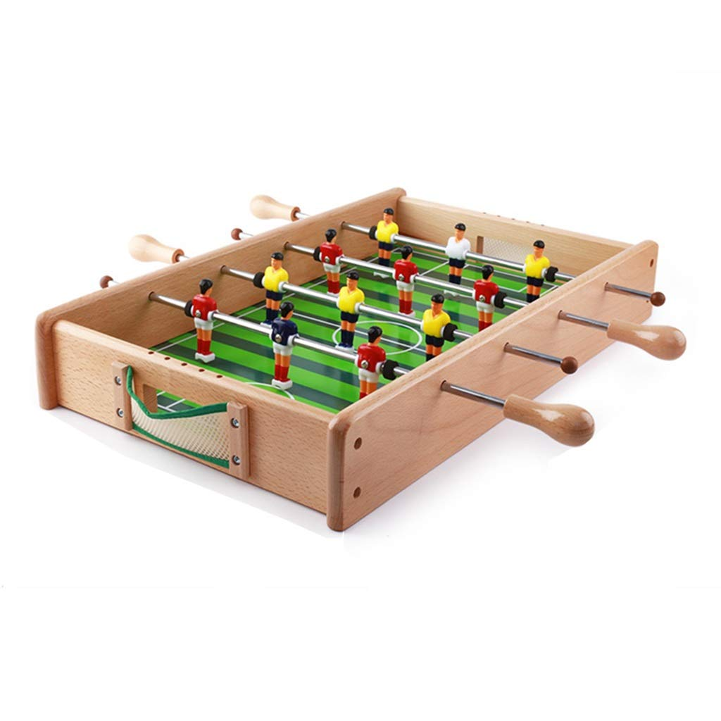 サッカー フットボールの試合スモールテーブルフットボールマシンホームデスクトップ6人乗りフットボールテーブルゲームテーブル子供のおもちゃ3-10歳の誕生日プレゼント知育玩具男の子の女の子のおもちゃ、 球技スポーツ (Color : Wood, Size : 54*33*8.5cm) B07P32L9HJ Wood 54*33*8.5cm