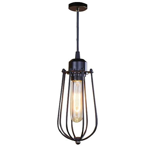 XINYANSEE Lámparas de araña Forma Jaula Metal Vintage Iluminación ...