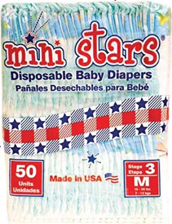 Mini Stars Size 5 (27+ lbs), 50 count - Made in America
