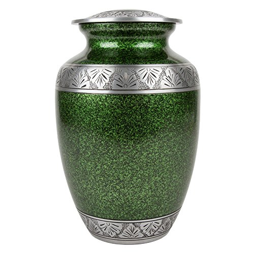 Perfect Memorials Extra Large Green Lively Leaves Cremation Urn