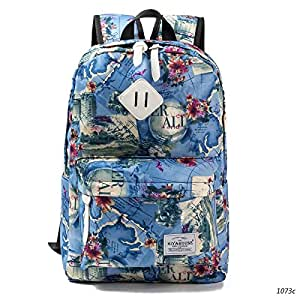 82c7b3c5f4 Amazon.com  Miyahouse Fresh Style Women Backpacks Floral Print ...