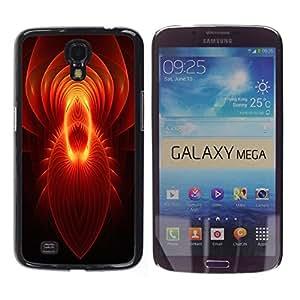 GIFT CHOICE / Teléfono Estuche protector Duro Cáscara Funda Cubierta Caso / Hard Case for Samsung Galaxy Mega 6.3 // Red Spiritual Abstract Mirror Pattern //
