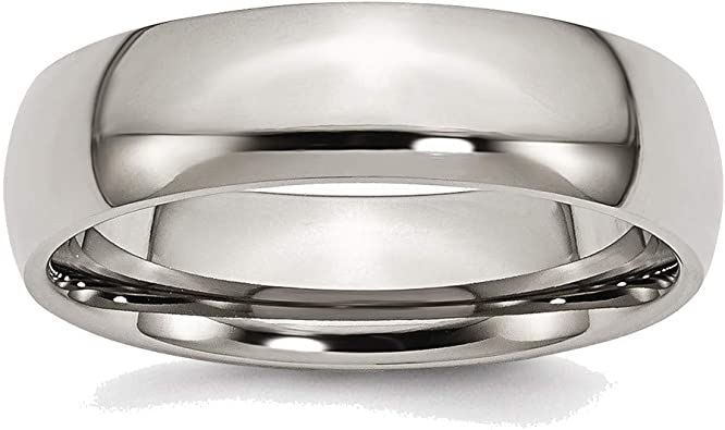 BillyTheTree Jewelry Titanium 6mm Polished Band Ring