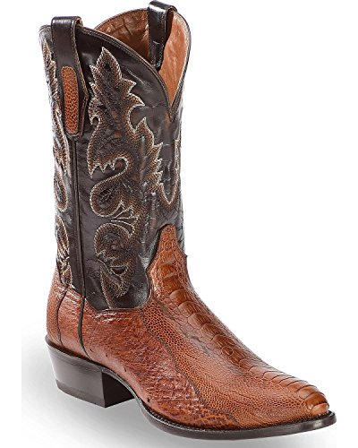 Dan Post Men's Ostrich Leg Cowboy Boot Medium Toe Cognac 11 D ()