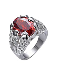 CHIC Ruby White Gold Filled Ring Men 10KT Finger Rings Bague Homme Man Gorgeous Jewele 8/10 Luxurious