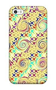 New GrayAnnys Super Strong Artistic Swirl Pattern Tpu Case Cover For Iphone 5/5s