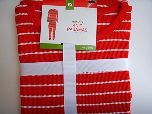 Women's Knit Pajamas Red White Peppermint Candy Stripe Clothing Collectible