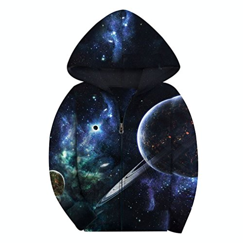 - SAYM Big Boys' Youth Galaxy Teen Jackets Fleece Full Zip Hooded Hoodie 4-15Y NO13 M