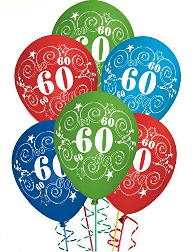 Ocballoons Palloncini Compleanno 60 Anni Addobbi E Decorazioni Per Feste Party Confezione 20pz