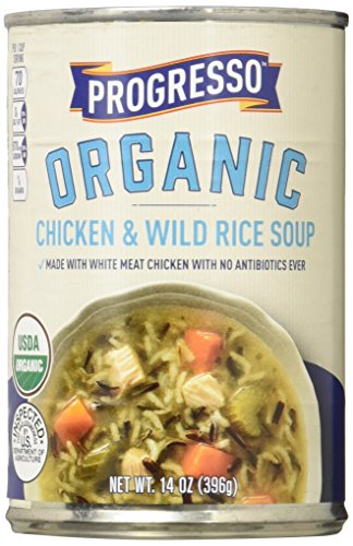 Progresso Organic Chicken and Wild Rice Soup Can, 14 Ounce (Pack of ()