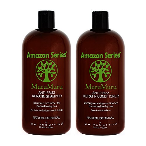 Amazon Series MuruMuru Anti-Frizz Keratin Shampoo & Conditioner 33.8 fl oz Set