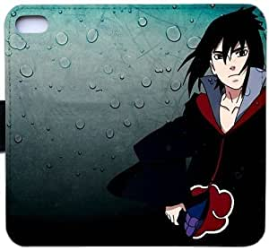 Wunatin Flip Case,uchiha sasuke and water drop iPhone 5/5S/SE Leather Wallet Case [with Free Touch Stylus Pen] BA-8774007