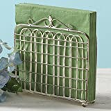 shabby chic kitchens Shabby Chic Garden Gate Metal Lunch Napkin Holder (Cream) by Park Designs