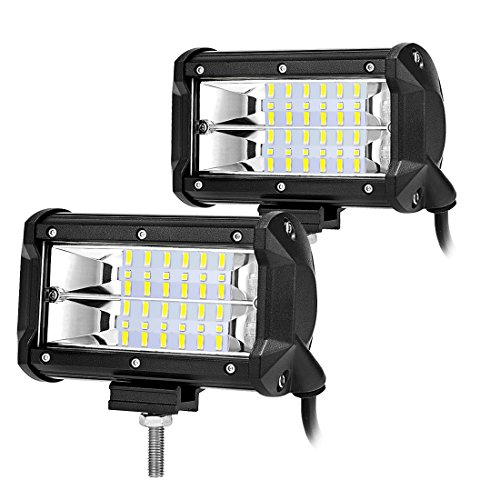 AUTOSAVER88-2PCS-5-72W-7200lm-Offroad-Led-Light-Bar-Led-Pods-Led-Fog-Lights-Extra-Bright-Super-Duty-Design-for-Trucks-Pickup-Jeep-SUV-ATV-UTV-Waterproof-2-years-Warranty
