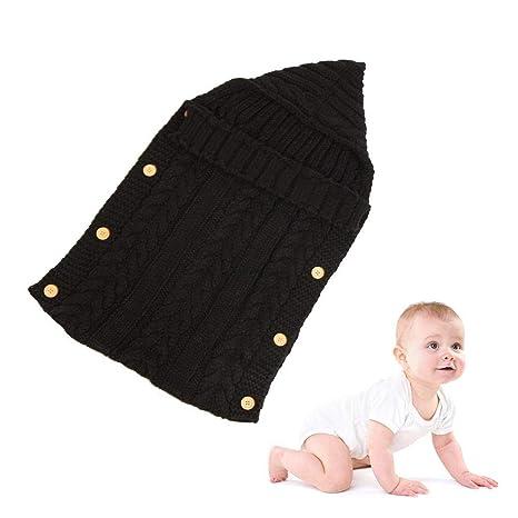 KOBWA - Saco de dormir para bebé, unisex, con capucha de punto cálido,