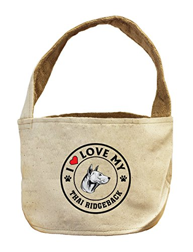 Style in Print Canvas/Burlap Storage Basket I Love My Thai Ridgeback Dog Style 1 by Style in Print