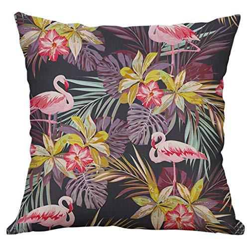 ALLYOUNG Simple Linen Creative Lovely Pillow Cover Pillow Cover Car Pillow Cover