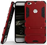 Heartly Letv LeEco Le 1S Back Cover Graphic Kickstand Hard Dual Rugged Armor Hybrid Bumper Case - Hot Red