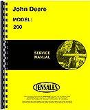 John Deere 200 Lawn & Garden Tractor Service Manual JD-S-SM2105