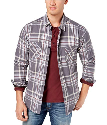 (Quiksilver Mens Flannel Ski Jacket, Grey, Medium)