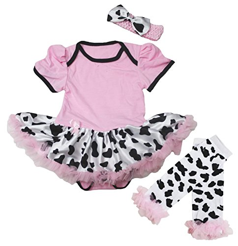 Cowgirl Baby Dress Pink Cotton Pink Bodysuit Cow