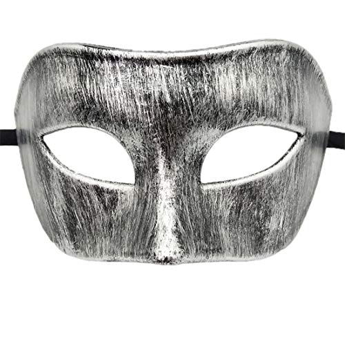 Mens Masquerade Mask Vintage Greek Roman Mask Venetian Party Halloween Mardi Gras Mask (D Antique -
