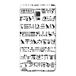 Shock-Absorbing Hard Phone Cover For Samsung Galaxy Note 4 (Kyw383OtRM) Custom High Resolution Egyptian Hieroglyph Pictures