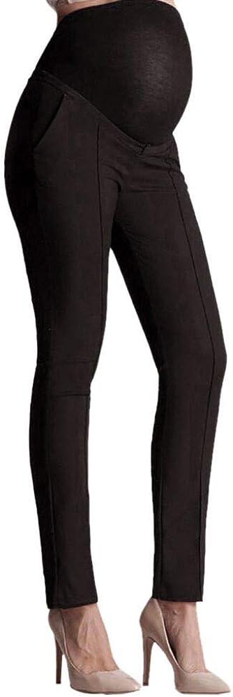 PinkLu premam/á Ropa El/ástico Vientre Proteccion Maternidad Embarazada Polainas Pantalones Pantalones Rectos Suelto C/ómodo Pantalones Negro