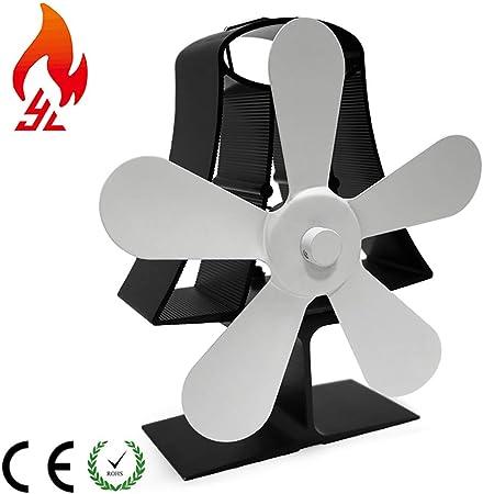 5 Aspas Silencioso Ventilador de Estufa Mini Portátil Ventilador ...