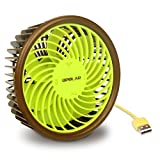 OPOLAR Rolling Fan with Gravity Control, Kiwi Design, Quiet Mini Desk USB Fan, 4 Speeds, 4.7 Feet Cord for Home, Office
