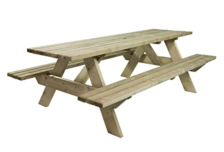 Luxury Picnic Table Cm Mm FSC FixUltra Spruce Wooden Pieces - Spruce picnic table