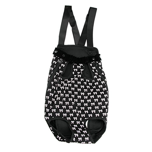 Stitching Print Folding Portable Mesh Breathable Pet Carrier Ventilated Pet Supplier Handbag Kennels Crates Houses Cat Dog Puppy Small Pets Tote Basket for Outdoor Travel (black+white)