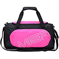 MIER Small Gym Sports Bag for Men and Women with Shoes Compartment, 18inch